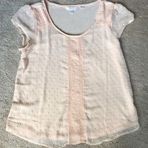 LC Lauren Conrad Tops - Lauren Conrad fun & flirty lace overlay t-shirt
